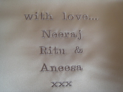 Add Embroidery Onto The Back Of Your Wedding Cushion