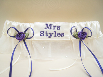 HONEY Purple Organza Garter