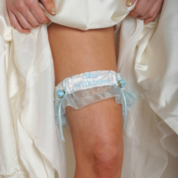 Personalised Garter, Wedding Garter Personalised With Name UK