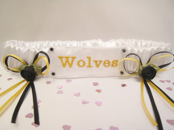 No17 Wolves Plain Wedding Garter
