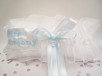 Luxury Crystal Sixpence Garter Personalised With Brides Name