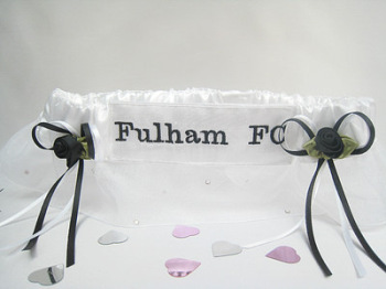 No.2 Fulham Football Garter, Football garters With Sparkle!