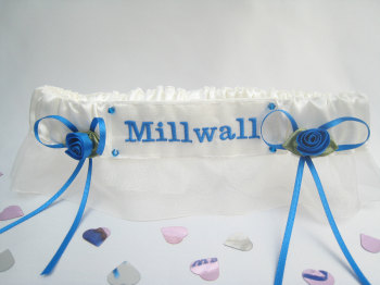 No16 MILLWALL Organza Wedding Football Garter