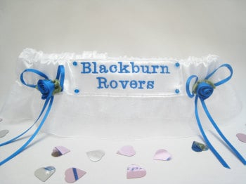 No.5 BLACKBURN ROVERS Organza  Football Wedding Garter