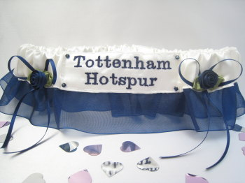 No21 TOTTENHAM HOTSPUR Organza Wedding Football Garter