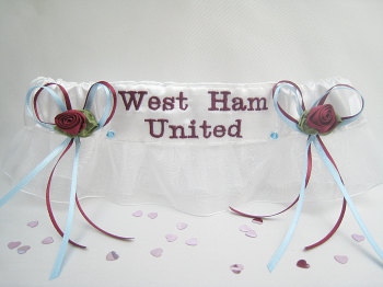 No24 WEST HAM UNITED Organza Wedding Football Garter