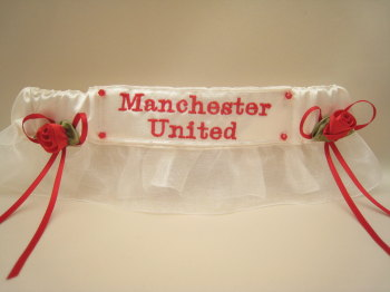 No15 MANCHESTER UNITED Organza Wedding Football Garter