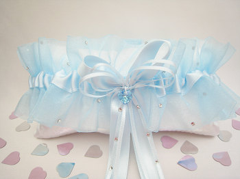 Adi Luxury Blue Sparkle Garter, Bespoke Garters