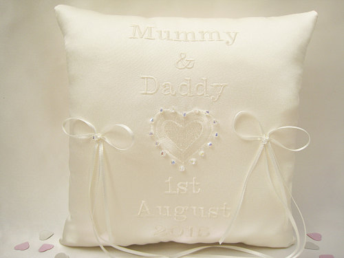 Personalised Wedding Ring Cushion Choose Colours Cushions Uk