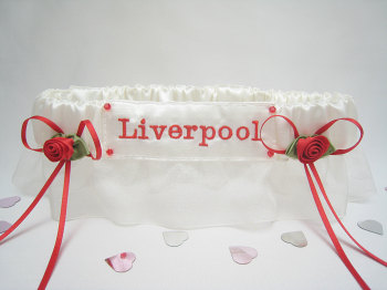 No14 LIVERPOOL Organza Football Garter