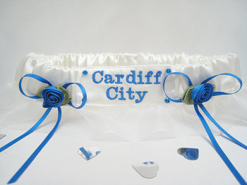 No.7 CARDIFF CITY Organza Wedding Football Garter