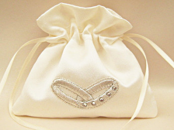 No.2 Wedding Ring/Pouch Bag For Wedding Rings With SWAROVSKI