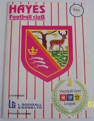 Hayes v Peterborough FA Cup 1989/90 football programme