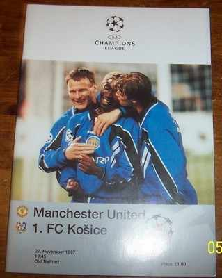 Manchester United v Kosice 1997/98 Champions League Football programme