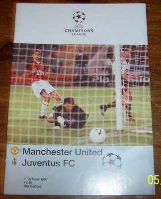 Manchester United v Juventus 1997/98 Champions lge Football programme