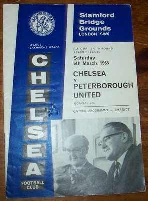 Chelsea v Peterborough United 1964/65 FA Cup football programme