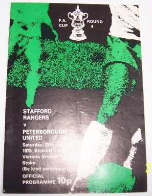 Stafford v Peterborough FA Cup 4th round 1974/75  football programme