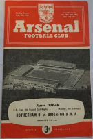 Rotherham United v Brighton FA Cup 4th round second replay 1959/60 played at Highbury