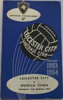 Leicester City v Ipswich Town 1963/64 Football programme