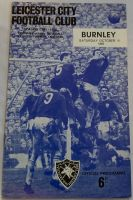 Leicester City v Burnley 1965/66  Football programme