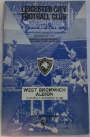 Leicester City v West Bromwich Albion 1966/67  Football programme