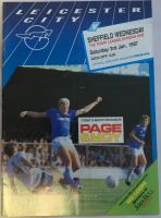 Leicester City v Sheffield Wednesday 1986/87 football programme