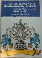 Leicester City v Exeter City 1980/81 FA Cup football programme