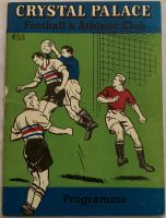 Crystal Palace v Shrewsbury 1961/62 Football Programme