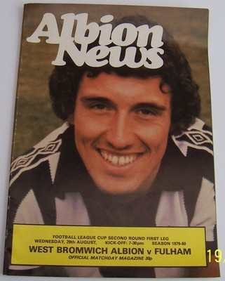 West Bromwich v Fulham 1979/80 football league cup programme