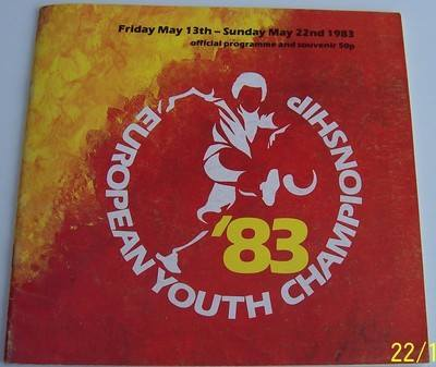 European Youth Championships 1983 tournament football programme