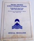 Thanet Premier Sunday Football Cup Finals football programme