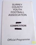 Surrey v Middlesex Home Counties Youth Cup 1980/81 football programme
