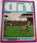 Manchester City v Wolves 1977/78 Football programme