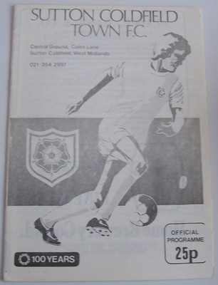 Sutton Coldfield v Doncaster Rovers FA Cup 1980/81 football programme