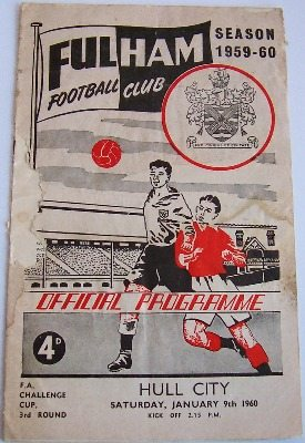 Fulham v Hull City 1959/60 FA Cup football programme