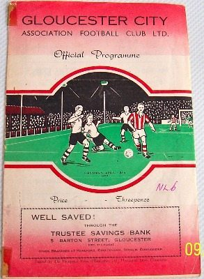 Gloucester City v Hastings United 1952/53 football programme