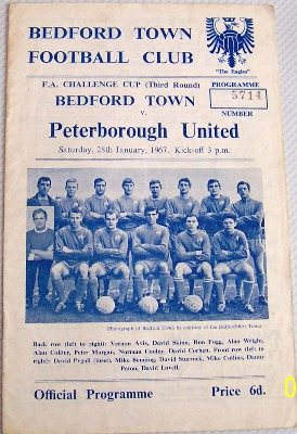 Bedford v Peterborough FA Cup 3rd round 1966/67 football programme