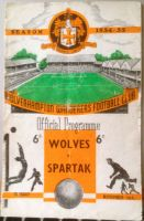 Wolves v Spartak 1954/55 football programme