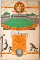Wolves v Roumania CCA 1956/57 football programme