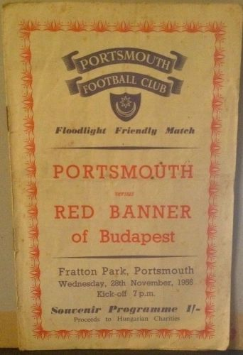 Portsmouth v Red Banner  1956/57 football programme