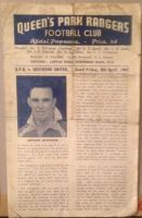 Queens Park Rangers v Southend United 1946/47 football programme