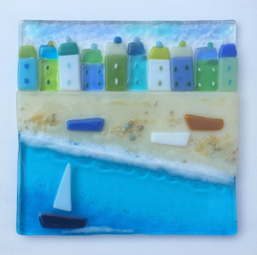 Green and Blue.   16cm x 16cm