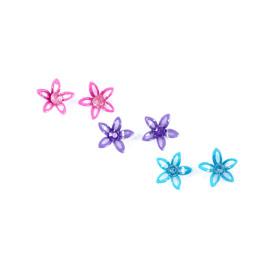 COLOURED CRYSTAL FLOWER EARRINGS