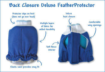 FEATHER PROTECTOR - BACK CLOSURE