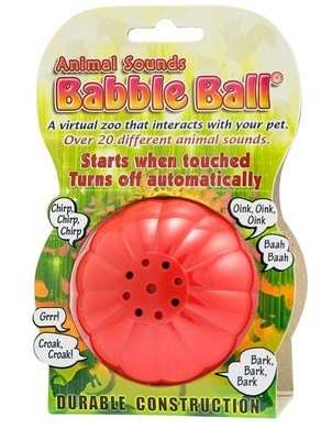 ANIMAL SOUNDS BABBLE BALL (SMALL)