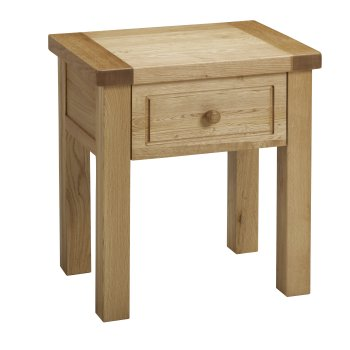 Balmoral Oak Lamp Table with Drawer