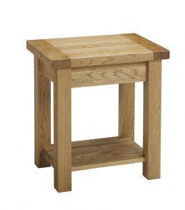 Balmoral Oak Lamp Table with Shelf