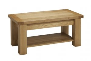 Balmoral Oak Small Coffee Table with Shelf