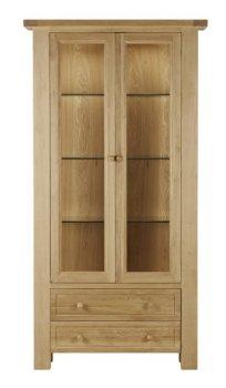 Balmoral Oak 2 Door Display Cabinet