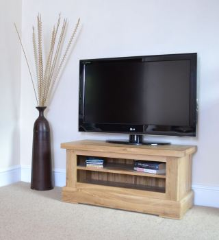 Hampton Abbey Oak Small TV Unit
